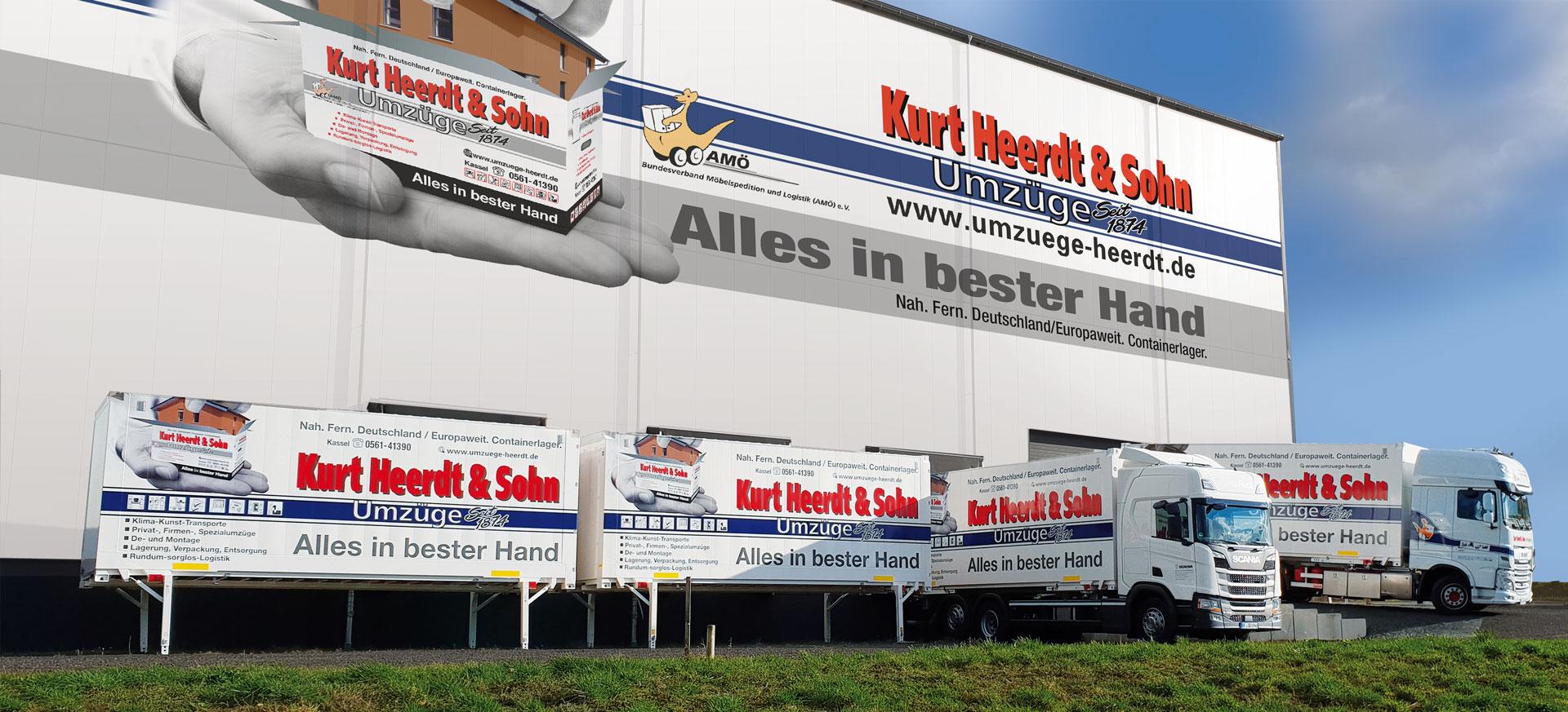 Umzug neuer Containerlager mit Fuhrpark