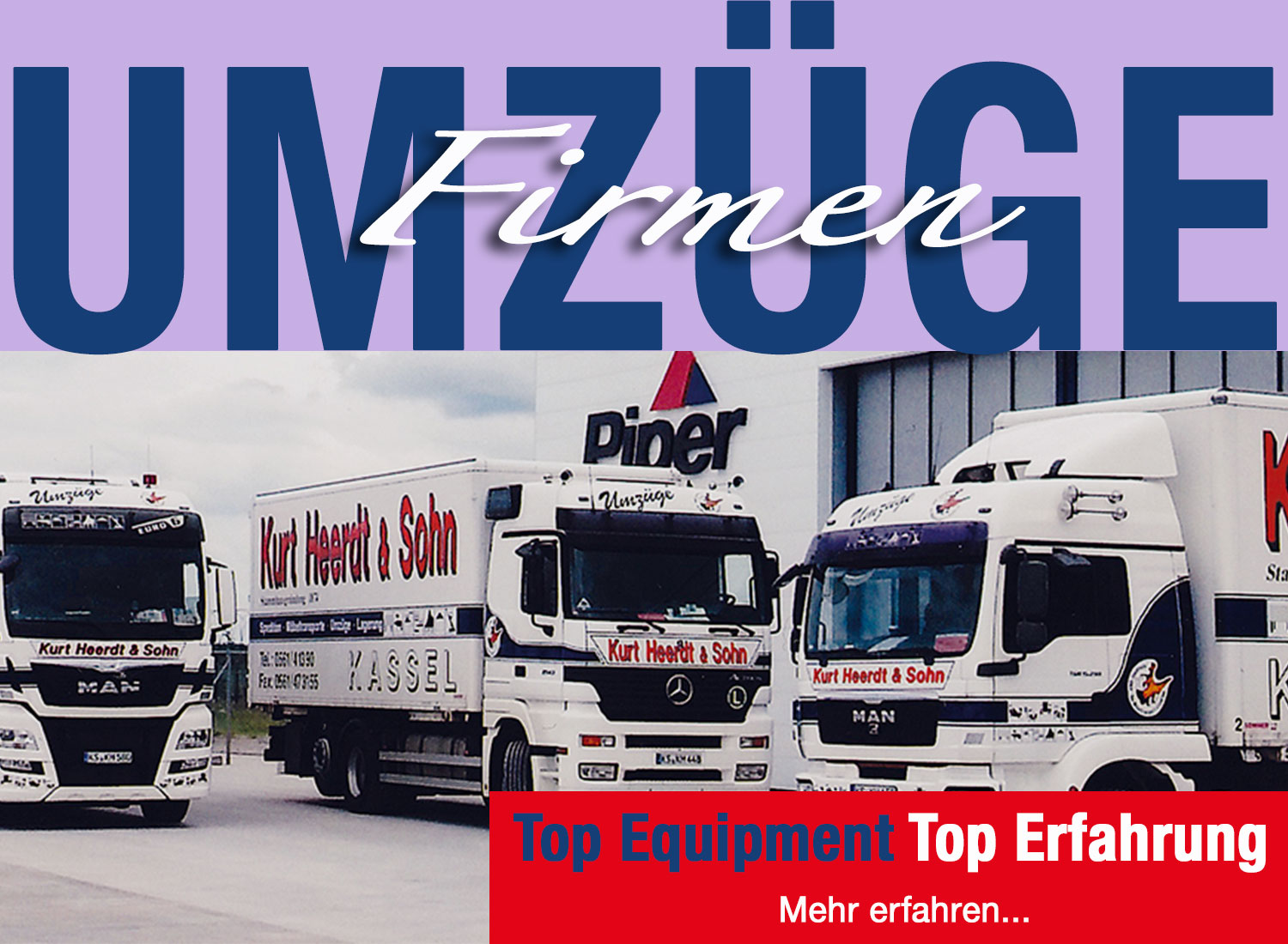 Firmenumzüge mit Top Equipment