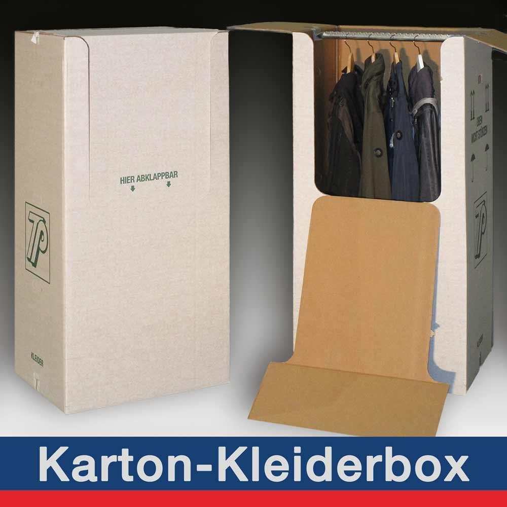 Karton-Kleiderbox